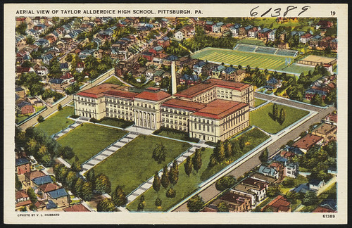 Aerial view of Taylor Allderdice High School, Pittsburgh, PA. | by Boston Public Library