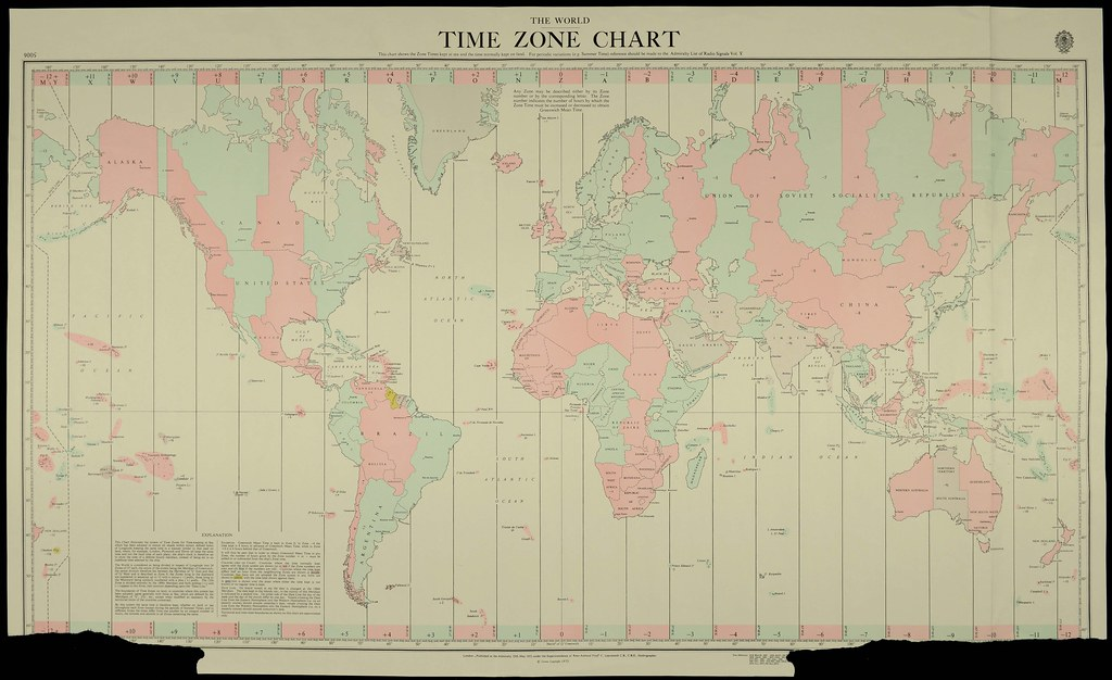 Time Zones Chart: World Time Zone Chart | On 2 November 1868 New Zealand adopu2026 | Flickr,Chart