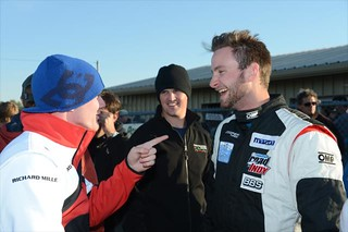 Conor Daly, Peter Dempsey, and Anders Krohn share a laugh following the 2013 RoboPong 200 | by IndyCar Series