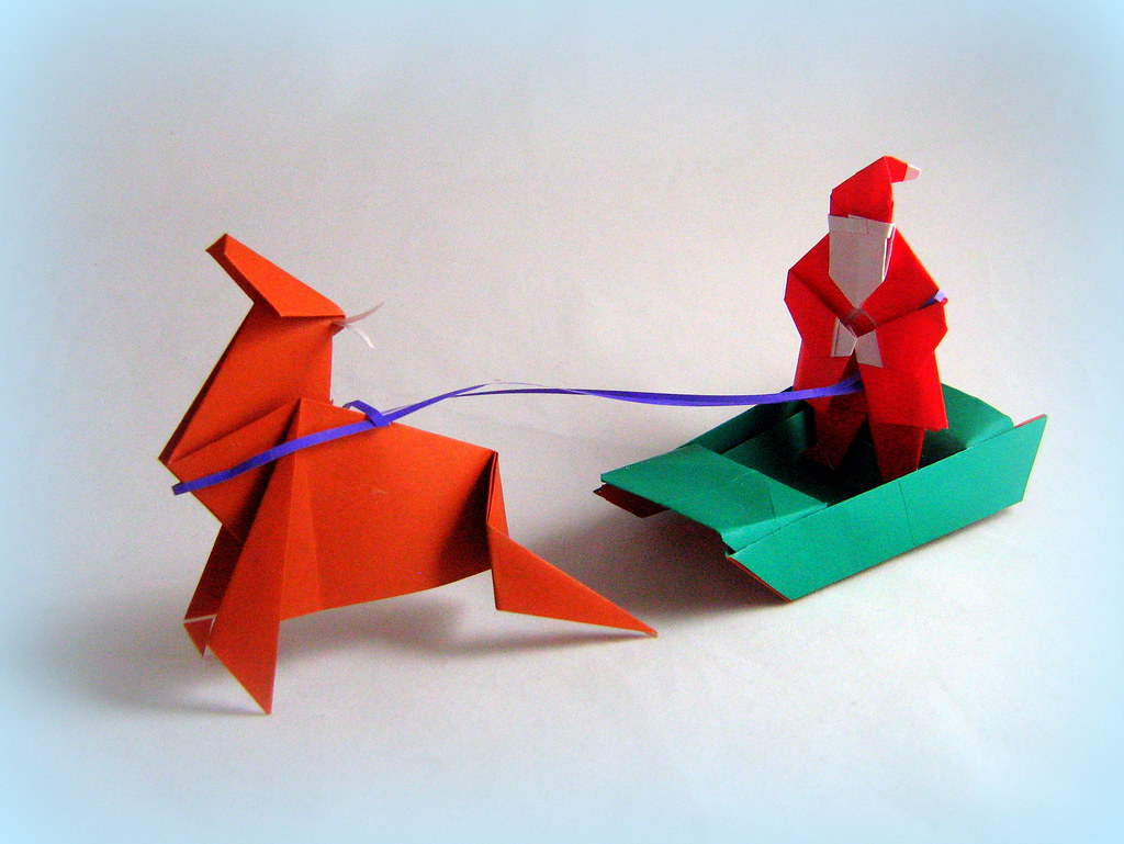 origami santas sleigh origami santas sleigh ive