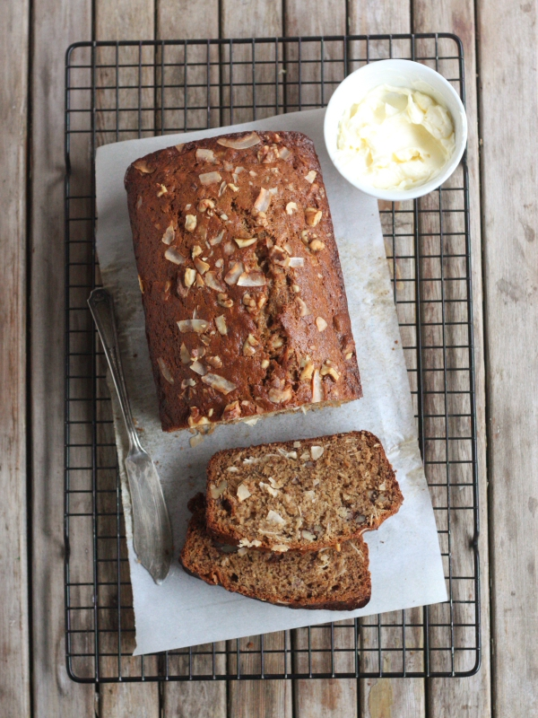 Coconut Banana Bread with Walnuts from completelydelicious.com