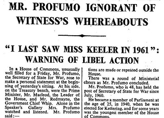 22nd March 1963 - The Profumo Affair | by Bradford Timeline