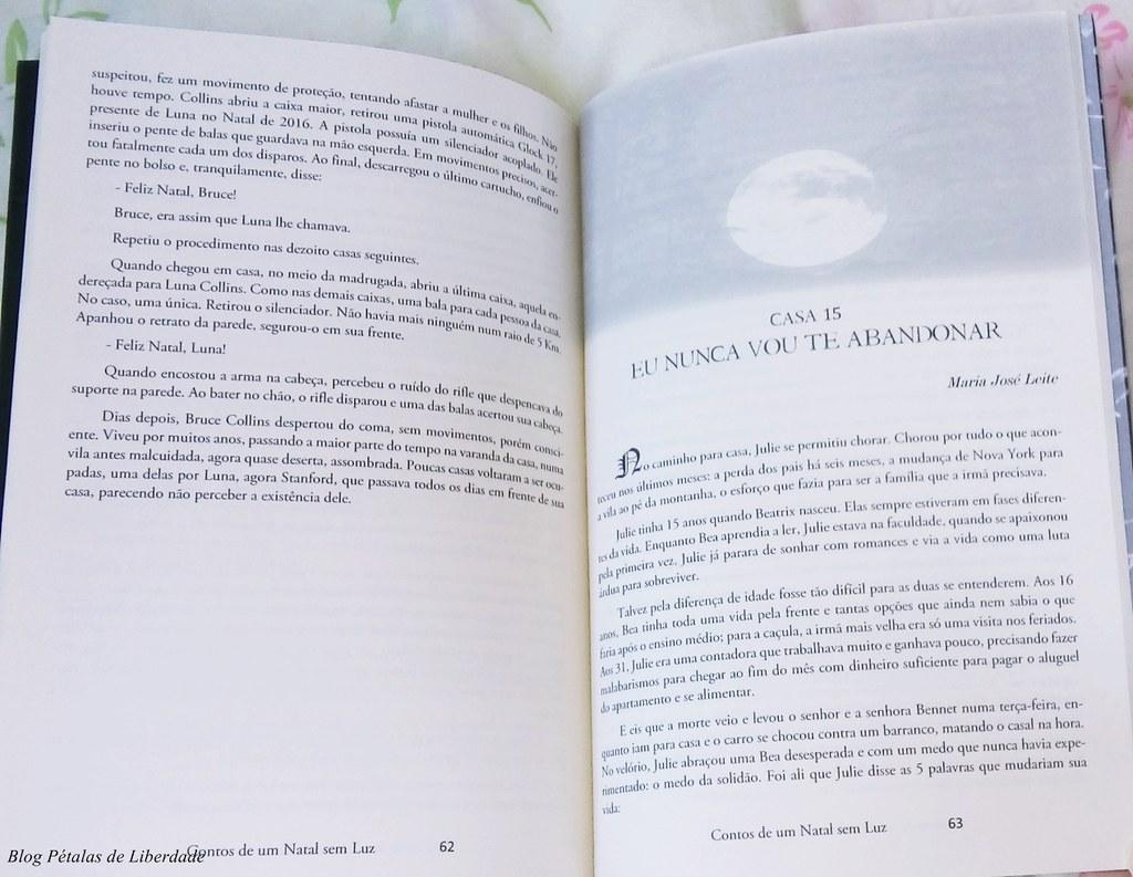 Resenha, antologia, editora-illuminare, livro, Contos-de-um-Natal-sem-luz, Maria José Leite, escritora, trecho, diagramação, ro-mierling, fernando-nunes, eu-nunca-vou-te-abandonar, maria-josé-leite