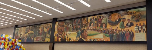 Mural at the MLK branch of the D.C. Public Library