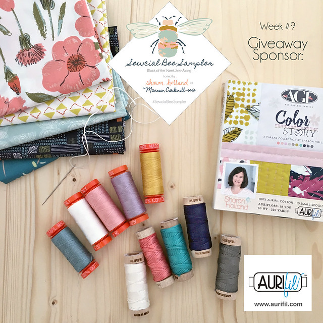 A Sewcial Bee Giveaway with Aurifil