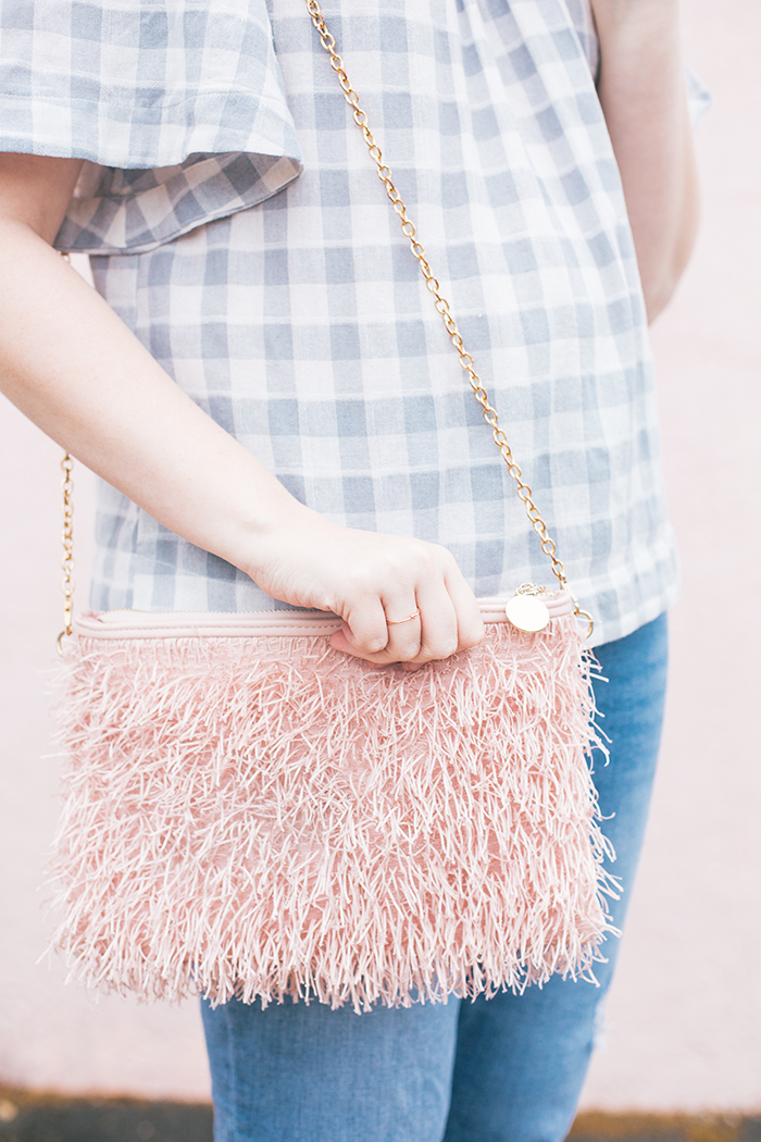 austin fashion blog gingham bell sleeves and blush17