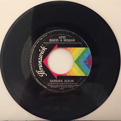 BARBARA ACKLIN:LOVE MAKES A WOMAN(RECORD SIDE-A)