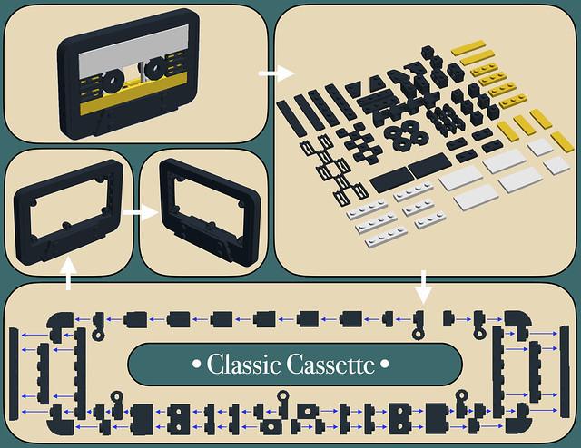 LEGO Cassette Audio Micro Building Guide