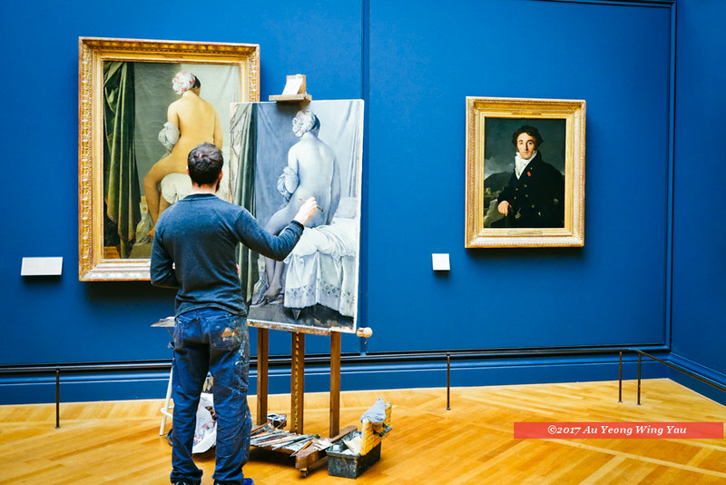 Paris 2017: In The Louvre - Painter At Work