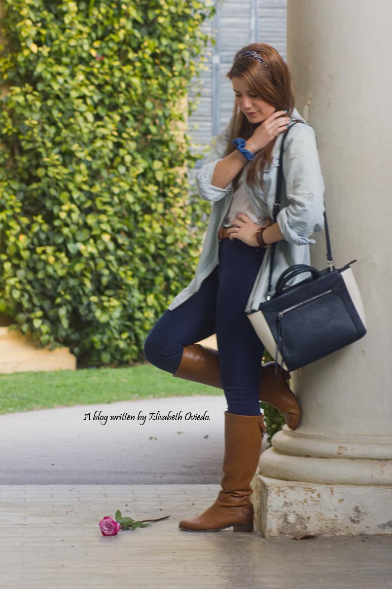 jeans look primavera heelsandroses botas marrones bolso grande (4)