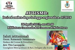 Noicattaro. incontro autismo front