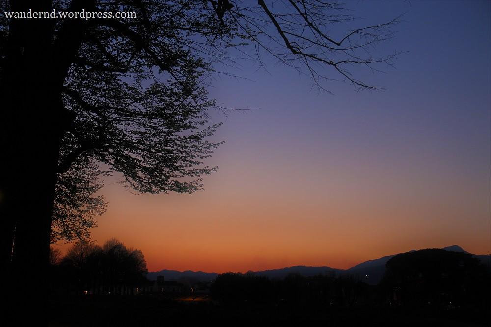 Lucca Sonnenuntergang