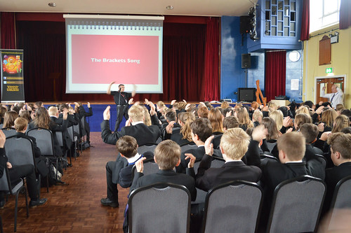 Pupils learning through laughter