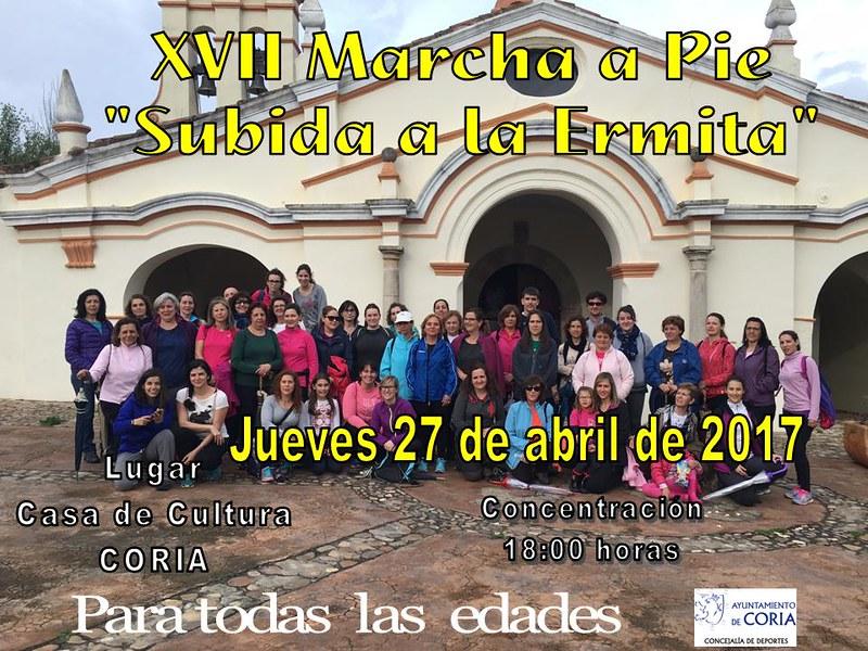 """XVII MARCHA A PIE """"SUBIDA A LA ERMITA"""""""