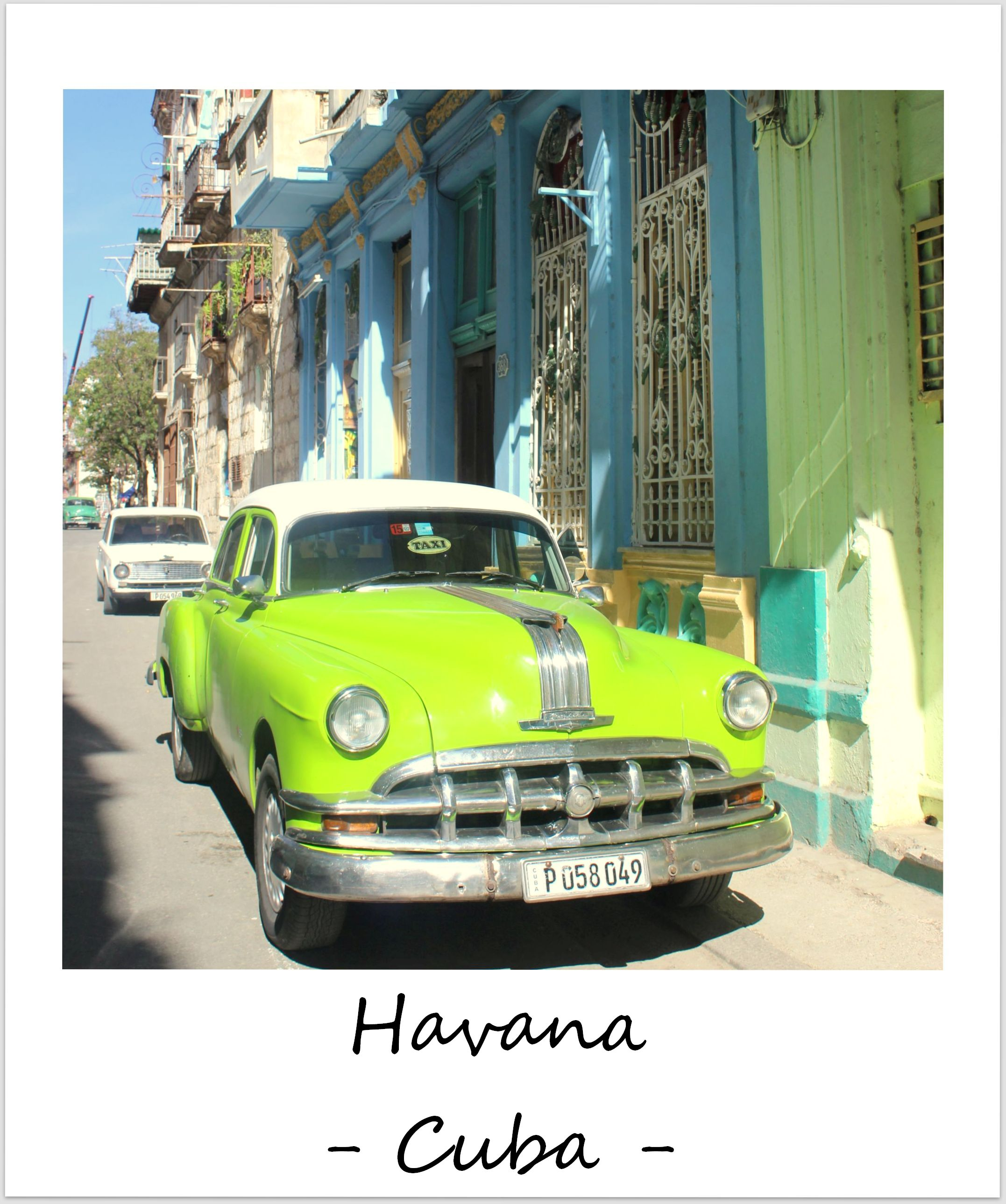 polaroid of the week cuba havana