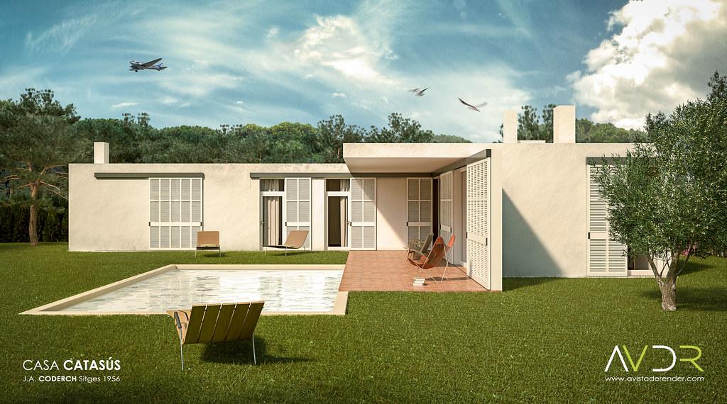 Casa catas s vista lateral casa catas s arquitecto - Arquitecto sitges ...