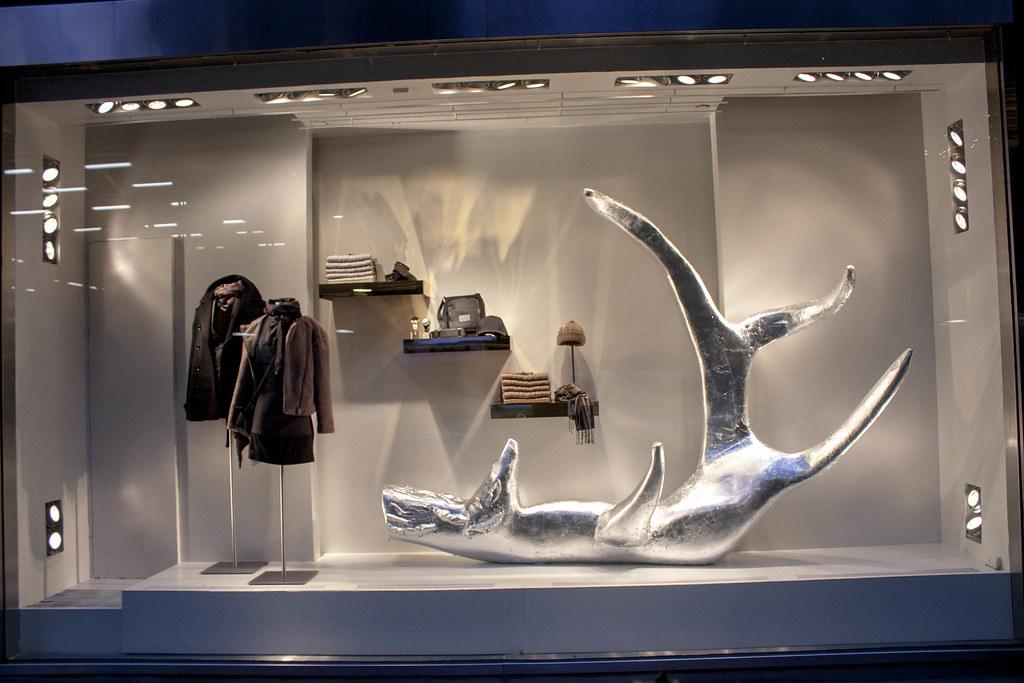 Armani Exchange Window Display Designs Sculptures and