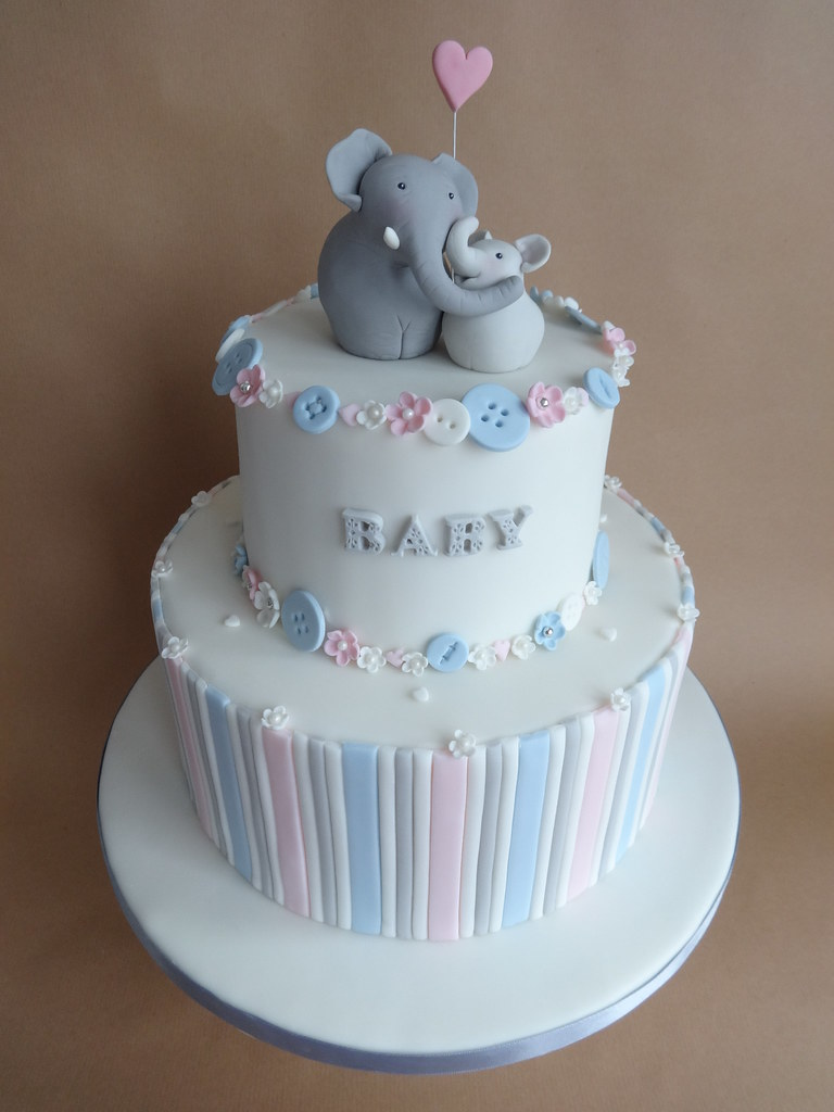 baby elephant shower here is the baby shower cake that i t