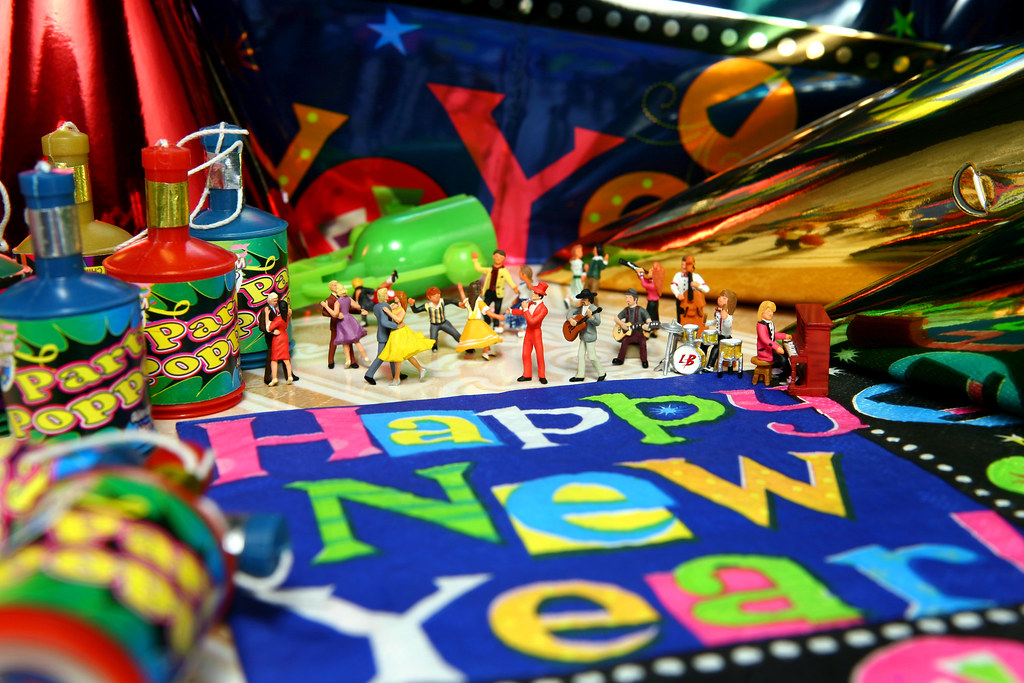 Happy new year dance party little people figures for Terrace new year party
