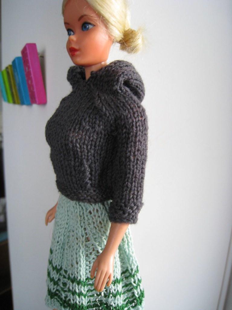 Barbie Hoodie and Pleated Skirt Knitting Pattern | Kelly Mullan | Flickr