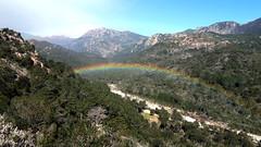 Joli arc-en-ciel sur la vallée du Cavu
