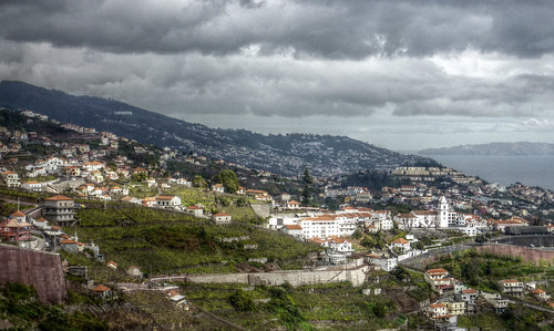 Madeira - Estreito de Camera de Lobos - view from the hills