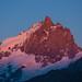 La Meije vue depuis le Plateau D'Emparis au coucher du soleil cet été.