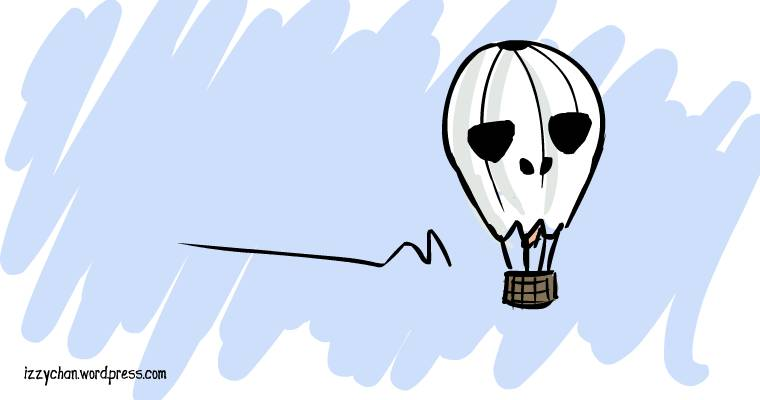skull hot air balloon