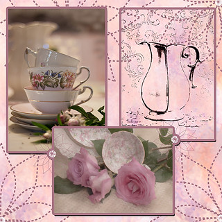 Tea Time Scrapbook Page