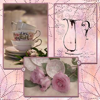 Tea Time Scrapbook Page