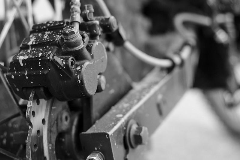 TT250 rear brake assembly