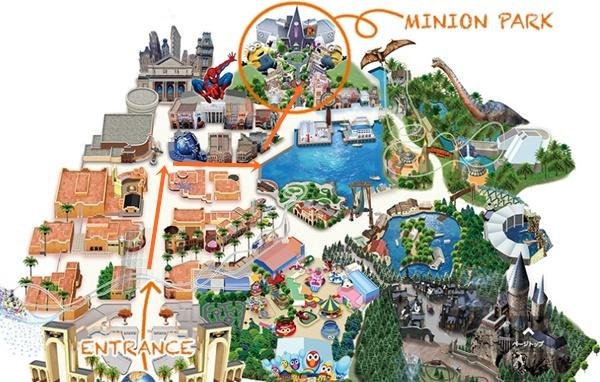 ミニオンパークのある場所・地図