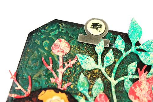 Meihsia Liu Simply Paper Crafts mixed media tag Simon Says Stamp Tim Holtz Paper Artsy Bird Outdoor Leaves 2