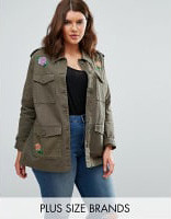 product-brave-soul-veste-militaire-grande-taille-a-broderies-vert-124606072