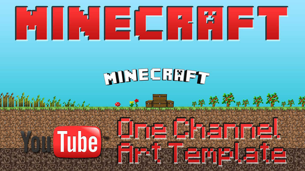 ... MineCraft YouTube One Channel Art Template | By Custom Page.com