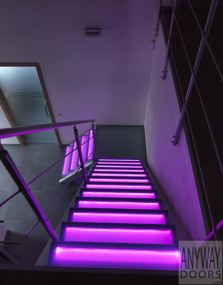 Moderne trap met rgb led verlichting | ANYWAY doors | Flickr