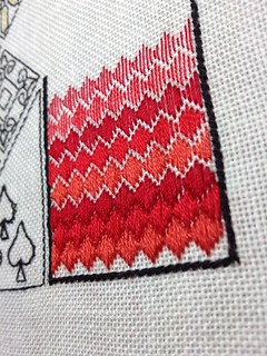 Red fill stitches | by pardalote makes
