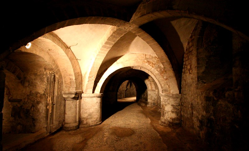 crypt of Gloucester Cathedral