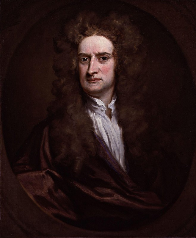 Godfrey Kneller - Portrait of Sir Isaac Newton (1702)