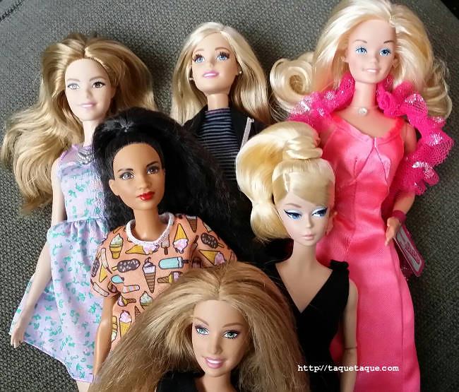 6 Barbies distintas