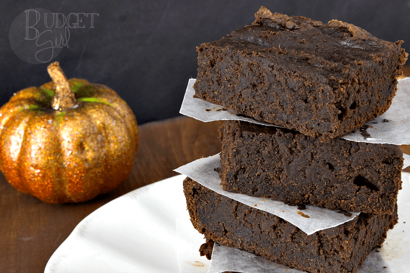 Easy 2-Ingredient Pumpkin Brownies