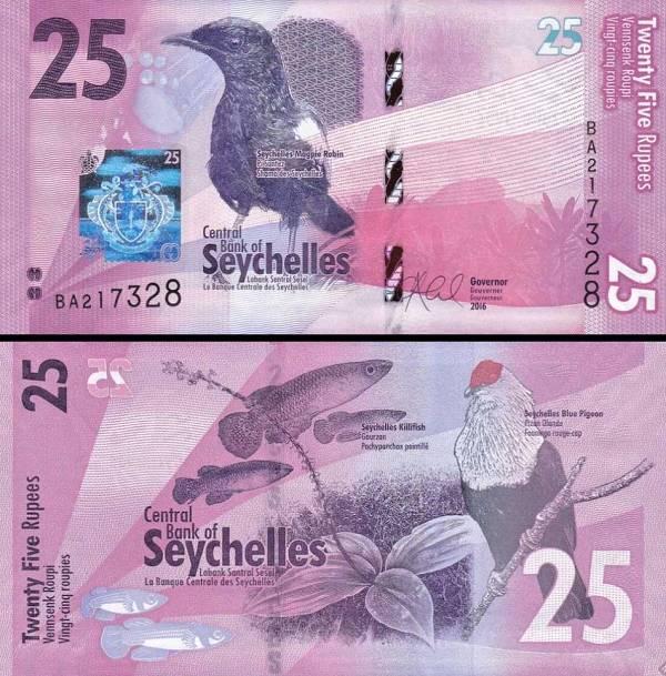 25 Rupií Seychely 2016, P48