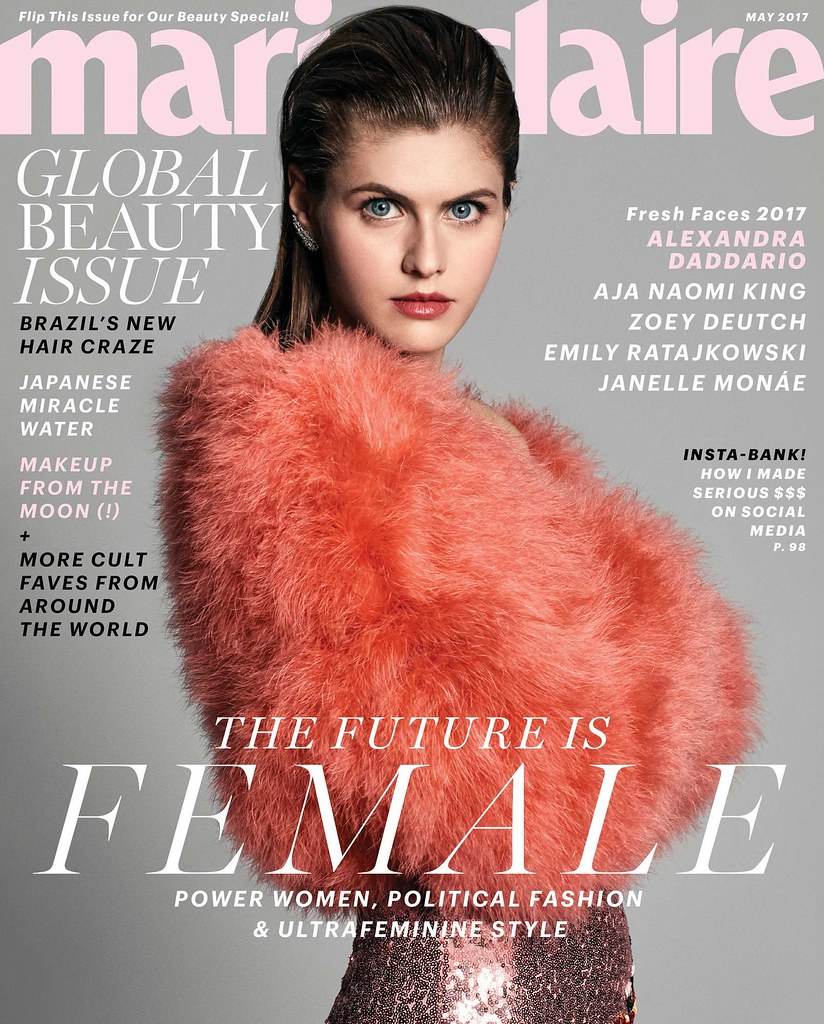 Alexandra Daddario Marie Claire Magazine photoshoot May 2017