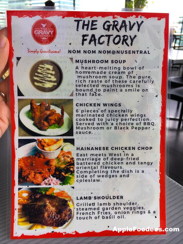 The Gravy Factory Menu 1