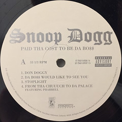 SNOOP DOGG:PUT THA COST TO BE DA BO$$(LABEL SIDE-A)