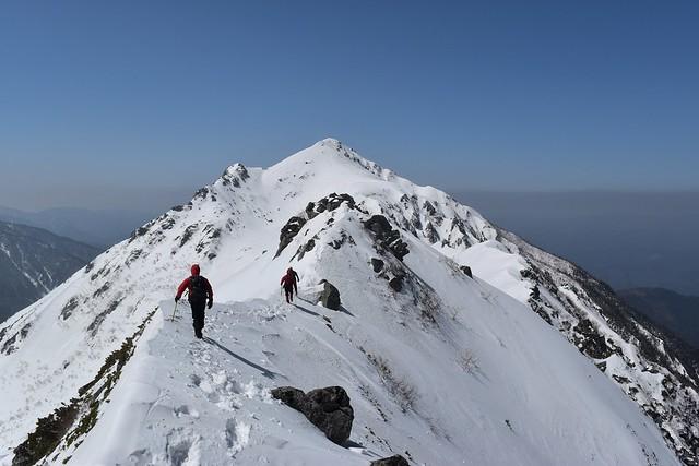 三ノ沢岳 雪山登山