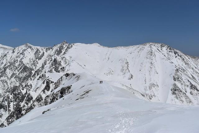 中央アルプス・三ノ沢岳の稜線