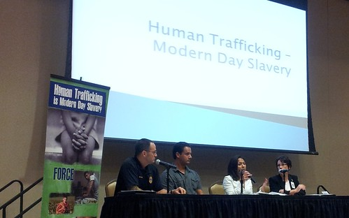Panelists engaging the audience and educating them about trafficking and slavery | by The Cooking Activist