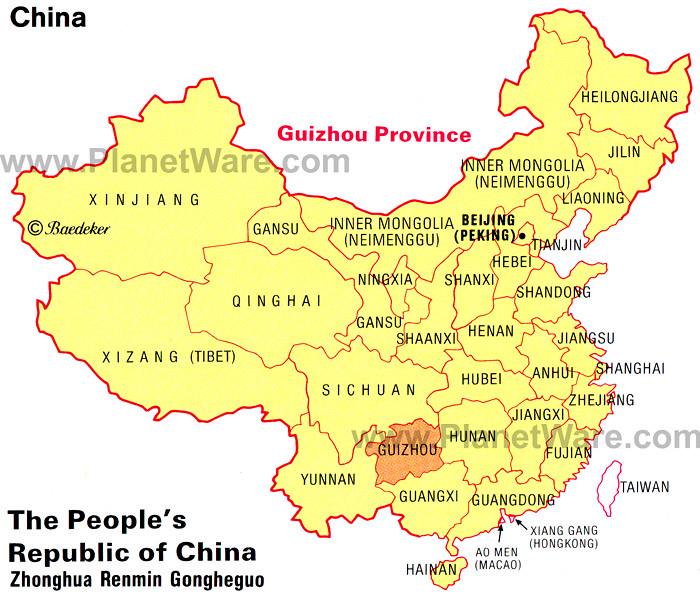 Guizhou Provinces Location Within China Ray Mahoney 马汉年 Flickr - Location of china