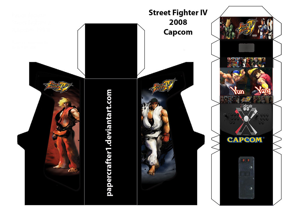 street fighter 4 paper arcade template here is the templat flickr